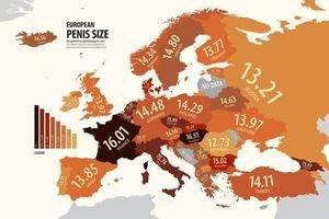 Размер члена по странам мира